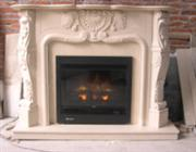 granite/marble fireplace
