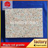 Maple red granite G562 lichi surface