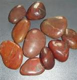 Natural red pebble