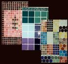 Glass and metalic tiles