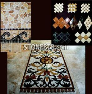 Tumbled stone and mosaics
