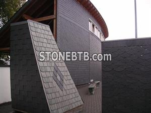 Roofing cladding slate
