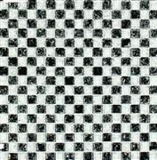 White, Black Ice crackle Crystal Glass Mosaic Tile