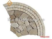 marble mosaic Tiles for paving stone