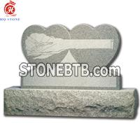 China Gray Granite memorials for two