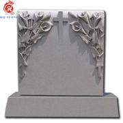 Gray Basalt Monuments with Carved Flower & Cross