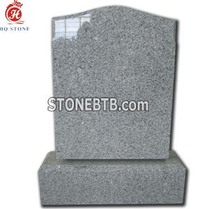 Grey Granite Upright Tombstone Design Picture