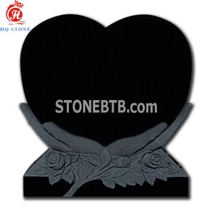 American Style Single Heart cemetery headstones