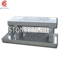 China Gray Granite Memorial Bench