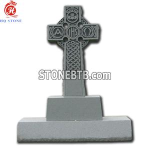 Granite Cross Headstones with Carved Design