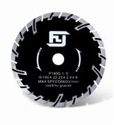 Turbo Dry Cutting Blade with Protective Teeth for Granite