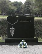Ireland Black Granite Gravestone