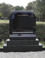 Ireland Black Granite Headstone