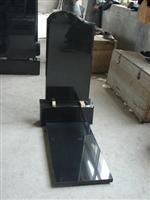 russian black granite gravestone