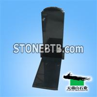 Russian Black Granite Tombstone