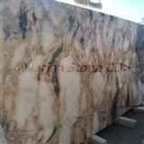 golden wood marble slab
