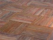 Vein-cut red travertine