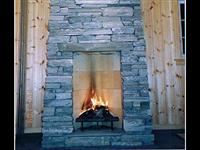 Fireplace with slate