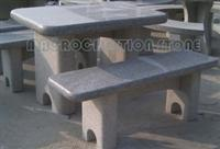 Granite Marble Stone Table and Bench