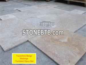 Melange Travertine Tumbled
