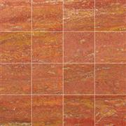 Red Travertine- Honed, filled