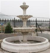 grey marble garden fountain