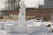 White Marble Sculpture Fountain