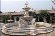 carved grey marble fountain