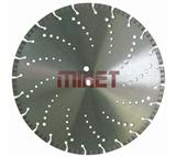 Laser Welded Cured Concrete Diamond Blade with Cooling Holes