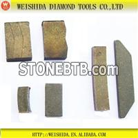 Diamond Segments for Granite Block Cutting