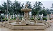yellow sandstone carving fountain