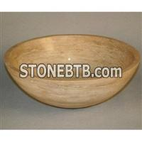 Beige Travertine Vessel Sink