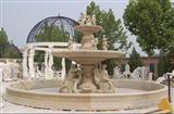 yellow sandstone garden fountain