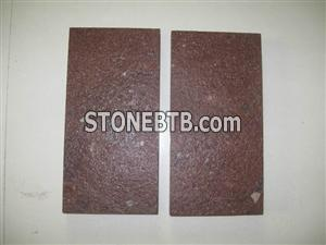 Porphyry (China Putian Red) Tiles Flamed