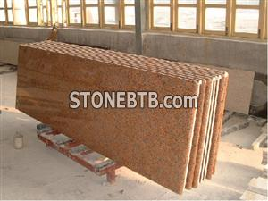 Red Granite countertop vanity top