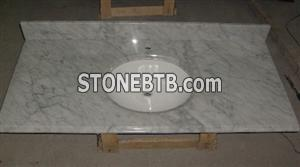 White Marble Carrara Vanity top