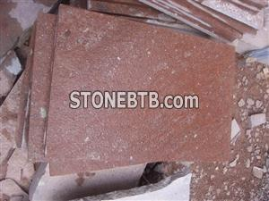 China Red Porphyry Tiles Putian Red
