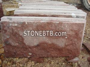 China Red Porphyry Mushroom wall stone Putian Red