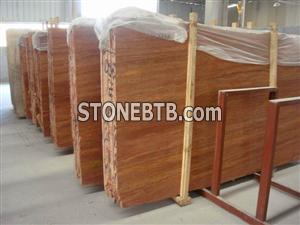 Red travertine from HZX Stone
