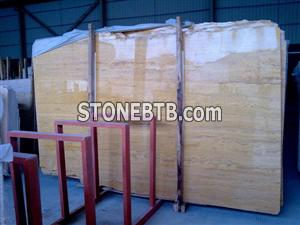 Golden travertine from HZX Stone