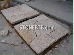 yellow granite  paving stone(G682)