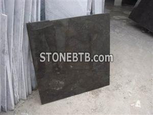Black limestone Polished tiles