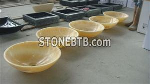 Honey Onyx Sinks with beatiful surface
