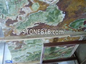 Chinese green and brown onyx