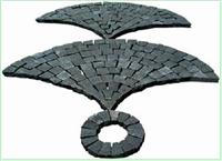 Black Basalt fan shaped
