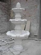 White sandstone fountains