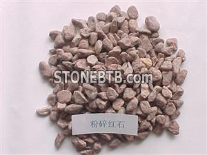 Pink Gravel Stone for Contruction