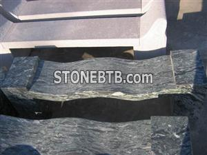 Beatiful Natural Green Stone Table & Chair
