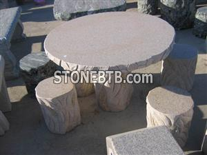 Garden Stone Table Chair