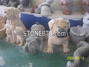 Beautiful Granite animal sculptures